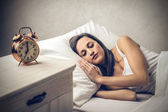 Woman sleeping peacefully — Stock Photo