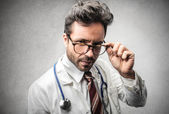 Doubtful doctor — Stock Photo