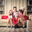 Happy united family ready for Christmas  — Stock Photo