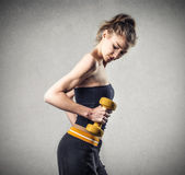 Young woman doing fitness — Stock Photo