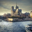 Stock Photo: View of Notre Dame