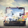 Suitcase full of dreams — Stock Photo #39301591