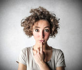 Woman thinking — Stock Photo