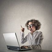 Business woman having an idea — Stock Photo