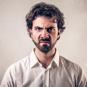 Disgusted man — Stock Photo