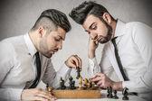 Empresarios jugando al ajedrez — Foto de Stock
