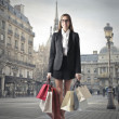Young woman doing shopping — Stock fotografie