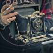 Antique old camera — Stock Photo #40638859