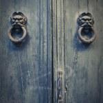 Antique blue door — Stock Photo #40639895