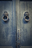 Antique blue door — Stock Photo