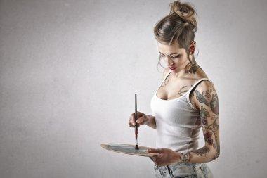 Alternative woman painting
