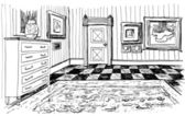 Drawn room — Stock Photo