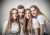 Man between women — Stock Photo