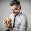 Businessman during his lunch break — Stock Photo