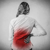Woman with backache — Stock Photo