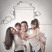 Happy lovely family — Stock Photo