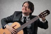 Zweifelhaft gitarrist — Stockfoto