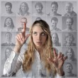 Young woman thinking — Stock Photo