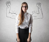 Young business woman smiling — Stock Photo