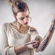 Nice tattooed woman — Stock Photo