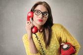 Expressive businesswoman — Stock Photo