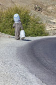 Sepet satıcı kırsal Fas. — Stok fotoğraf