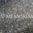 In Memoriam Marble Grave - Stock Photo