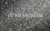 In Memoriam Marble Grave — Stock Photo