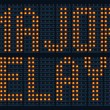 Stock Photo: Major Delays Sign