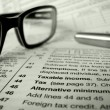 Tax Forms — Stock Photo