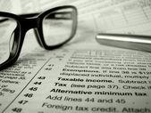 Moduli fiscali — Foto Stock
