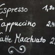 Stock Photo: Cafe Coffee Menu