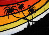 Tropical Graffiti — Stock Photo