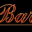Stock Photo: Neon Bar Sign