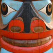 Totem Pole Face — Stock Photo