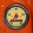 Stock Photo: Vintage Speedometer