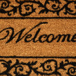 Stock Photo: Welcome Mat Background