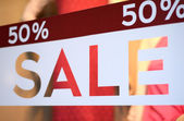 Store Sale Window Display — Stock Photo