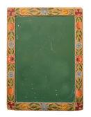 Flower Design Blackboard — Stock Photo