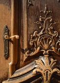 Ornate Wooden Door — Stock Photo