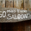 Rustic Saloon Sign — Stock Photo