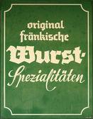 Alman sosisi işareti — Stok fotoğraf