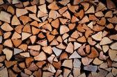 огонь дерева стека — Стоковое фото