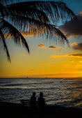 Tropical Couple At Sunset — Stock Photo