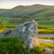 Stock Photo: Scottish Landscape At Sunset