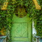 Fairytale Cottage Door — Stock Photo