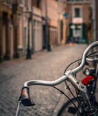 欧洲自行车场景 — 图库照片