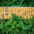 Rustic Sign For School Playgroup — Stock Photo #40075973