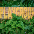 Rustic Sign For School Playgroup — Stock Photo