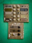 Rustic Apartment Intercom Buzzer — Stock fotografie